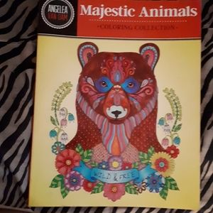 NEW, Majeatic Animal Colouring Book